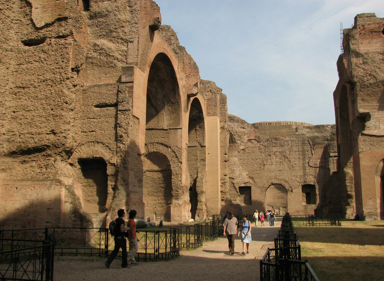 If you look closely, the Baths of Caracalla look a bit like the Golden Arches.