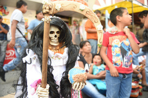 On the Street with Saint Death in Tepito, Mexico
