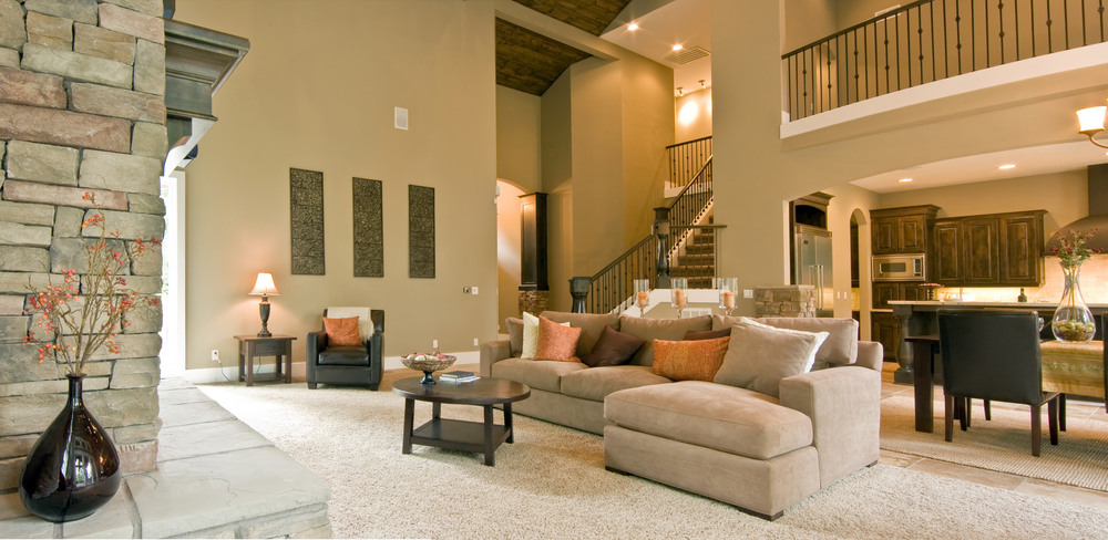 The Beige Interior Of A Luxury Home