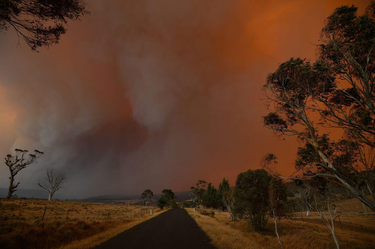 Smoke billowed across New South Wales in January 2020.