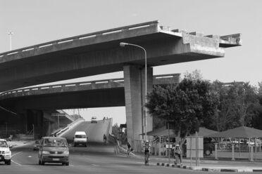 Cape Town's unfinished freeway bridge.