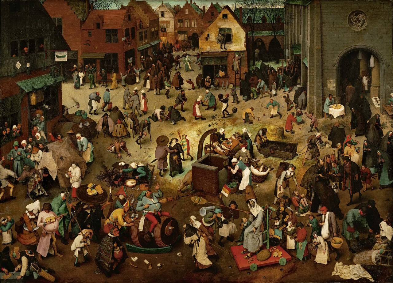 """The Fight Between Carnival and Lent,"" 1559, by Pieter Bruegel the Elder."