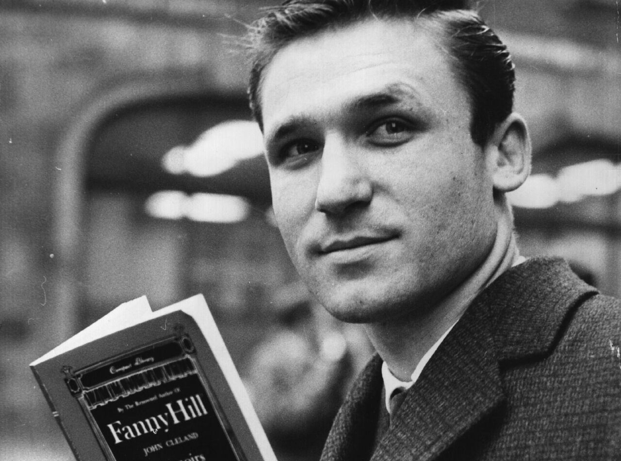 A London book distributor reads the sequel to Fanny Hill during the book's 1964 obscenity trial in the UK.