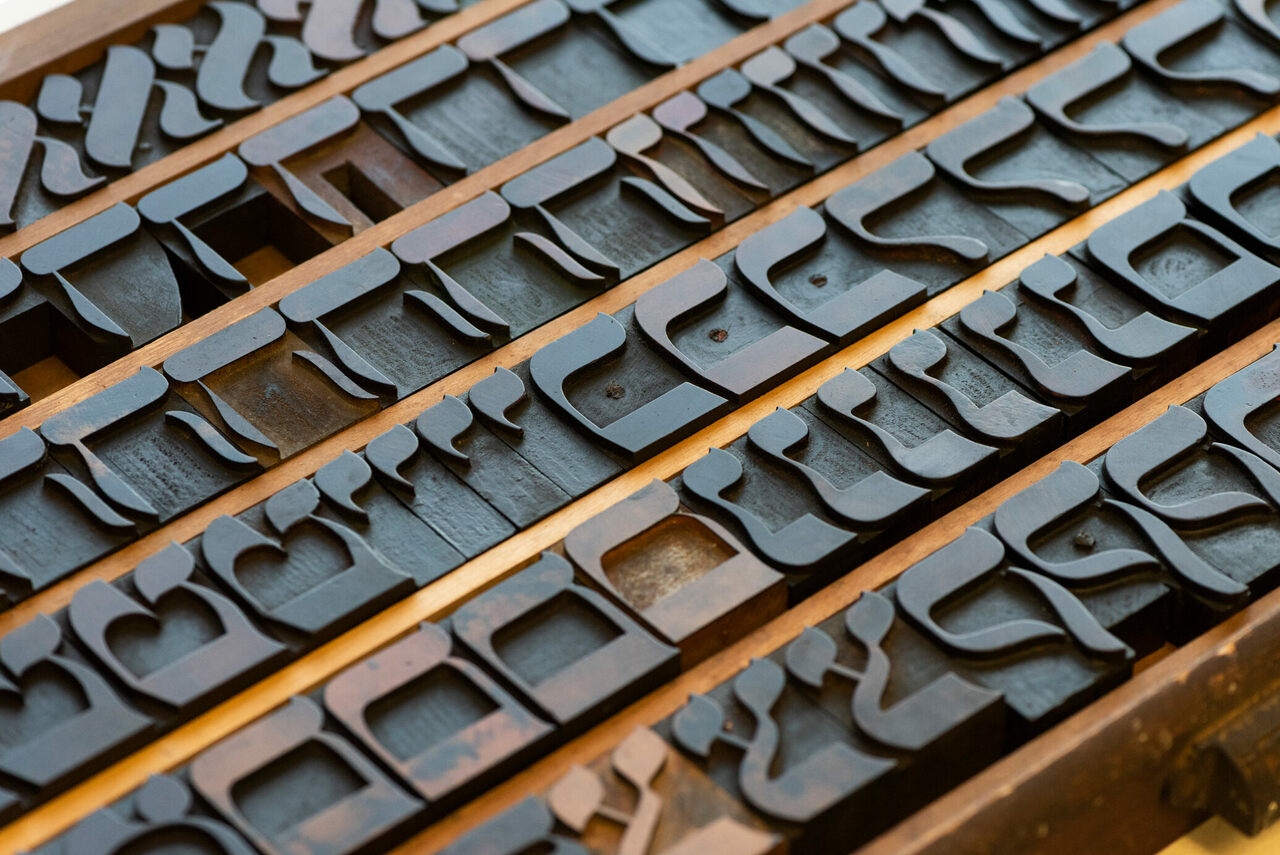 There are lots of stories about the provenance of the block letters—but it's hard to pin down the origins.