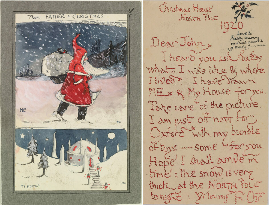 The first letter from Father Christmas, 1920.