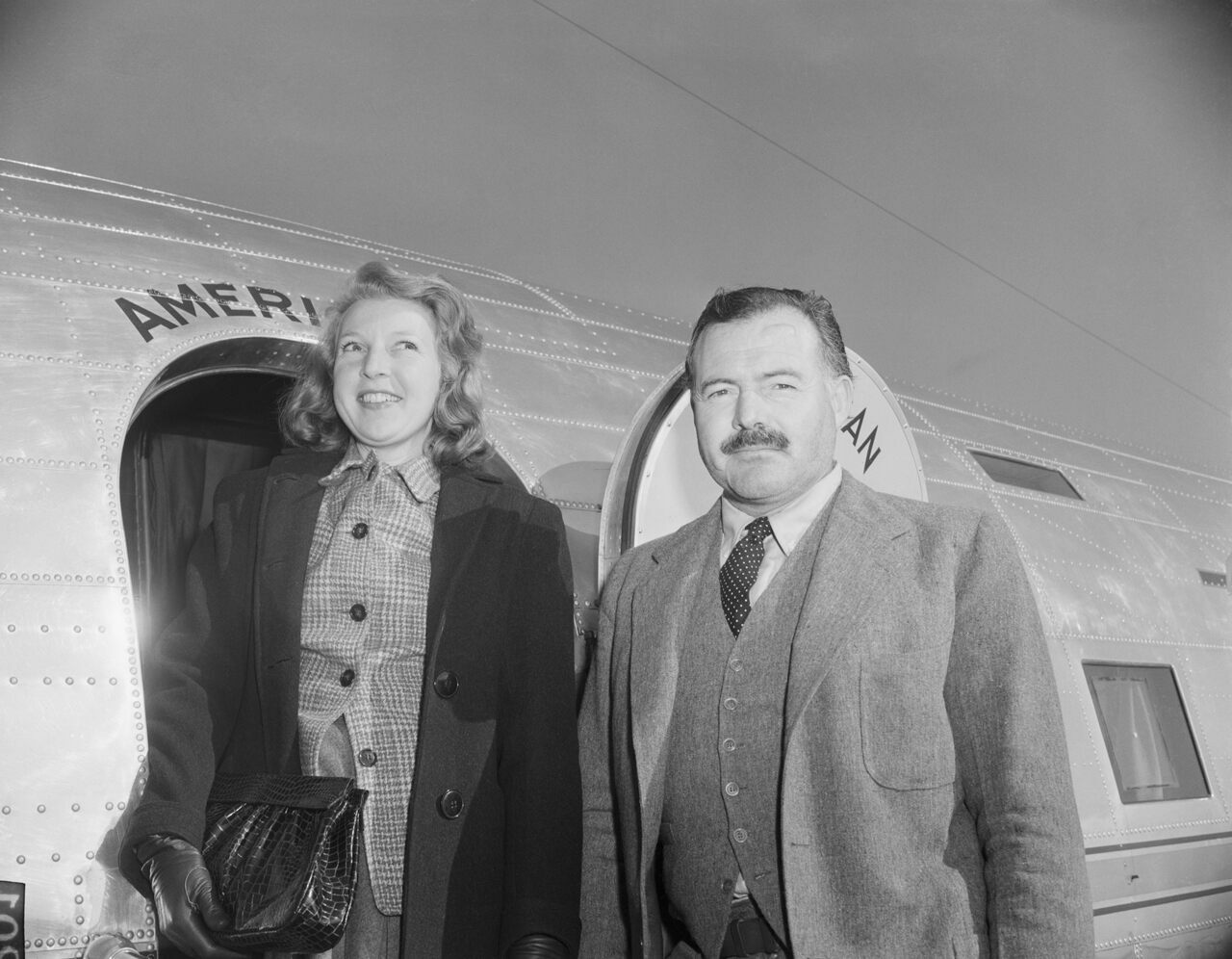 Gellhorn and Hemingway in 1945.