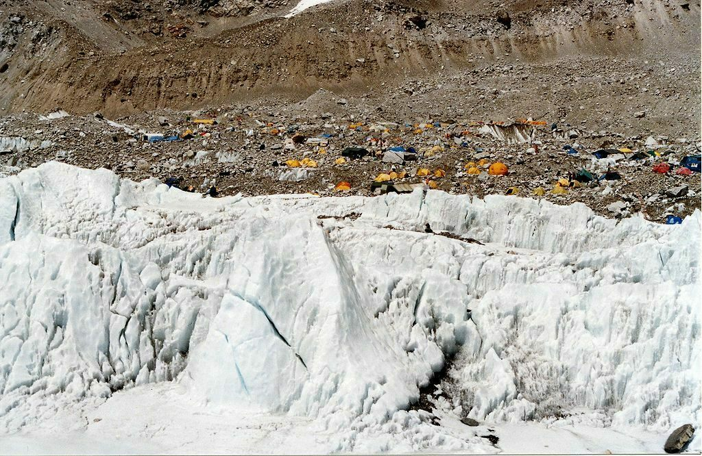A base camp on the Nepalese side of Everest.