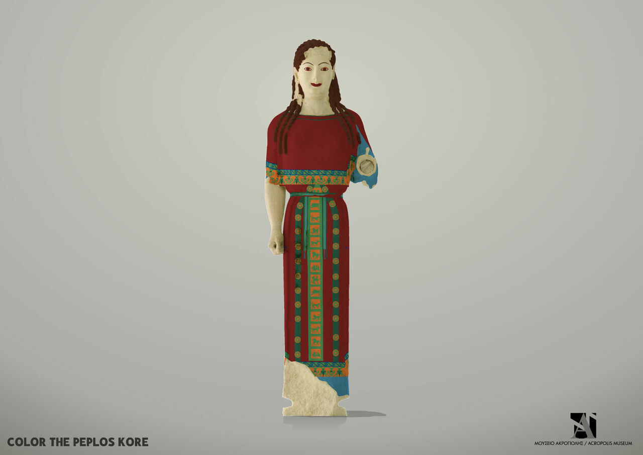 Many people don't know that classical statues were once painted with bright colors. The Acropolis Museum designed a game to help children imagine what they looked like.