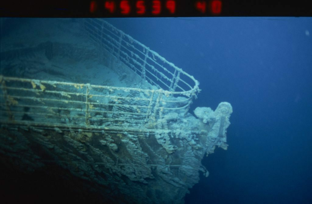 The wreck of the RMS <em>Titanic</em>, photographed in 1996.