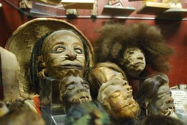 Shrunken heads. Photo by Annetta Black