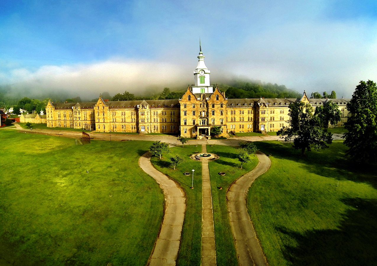 The Weston State Hospital, once (and again) known as the Trans-Allegheny Lunatic Asylum.