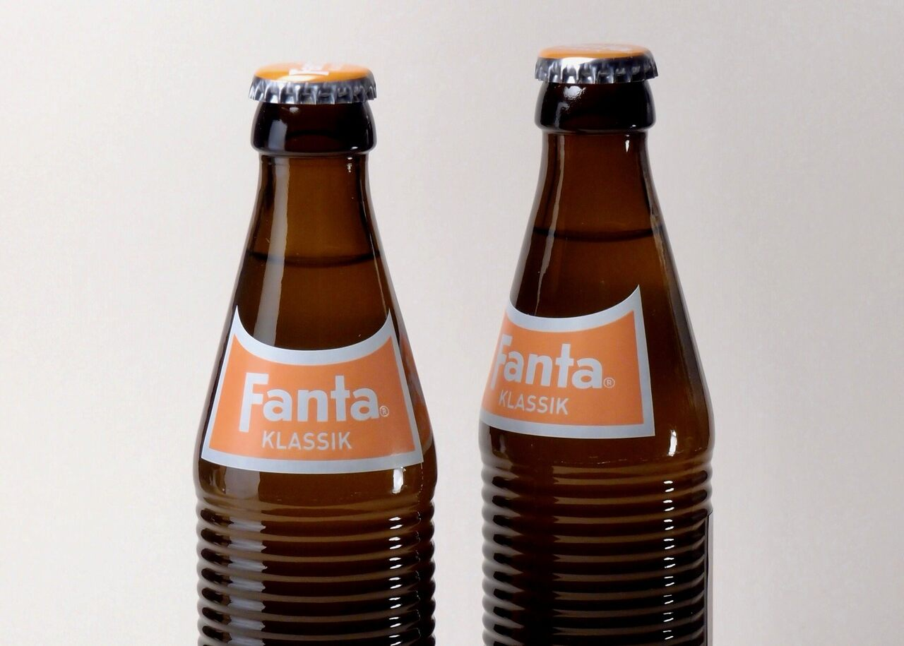 Retro bottles released by Coca-Cola for Fanta's 75th anniversary.