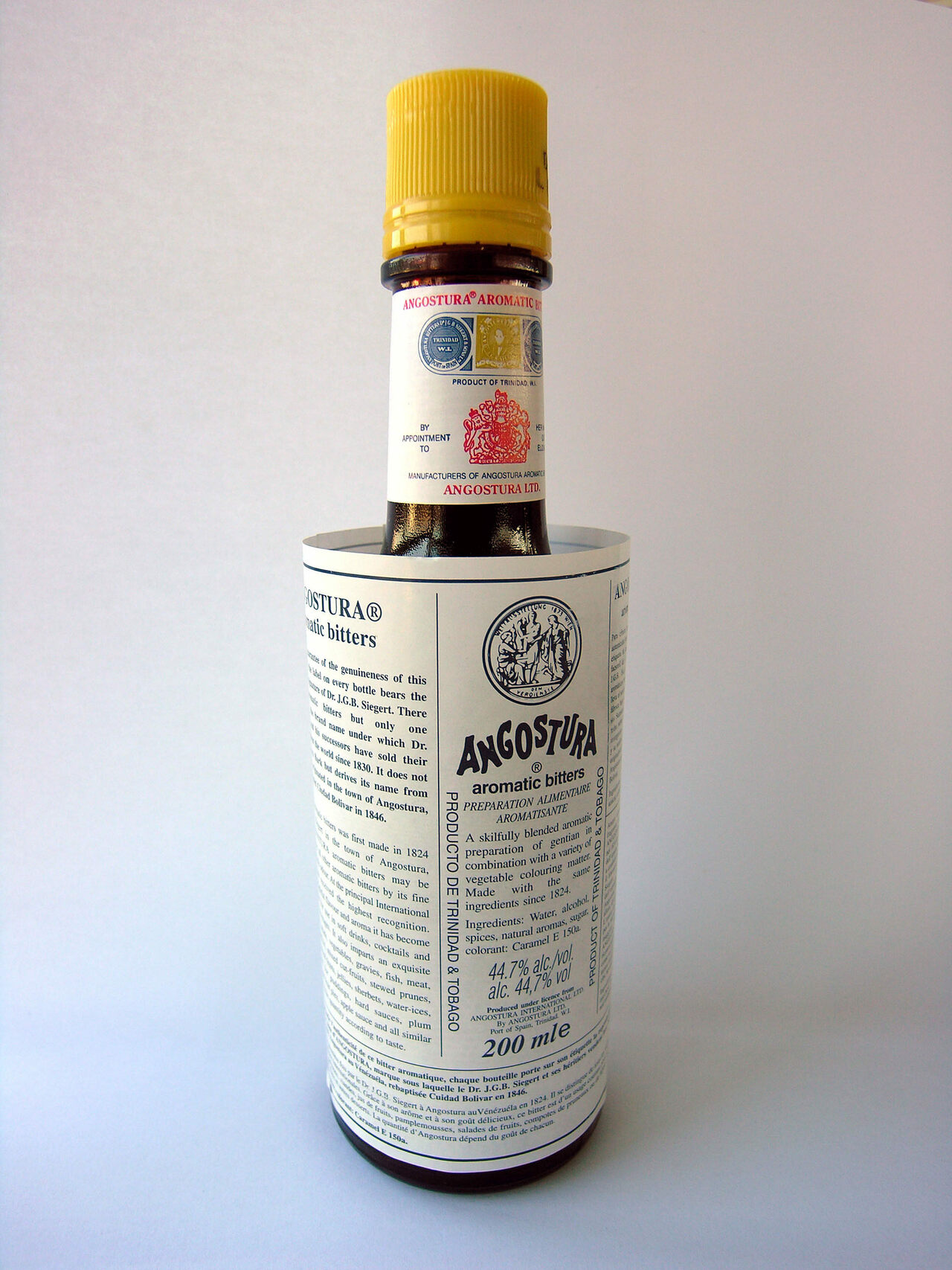 A bottle of Angostura bitters.