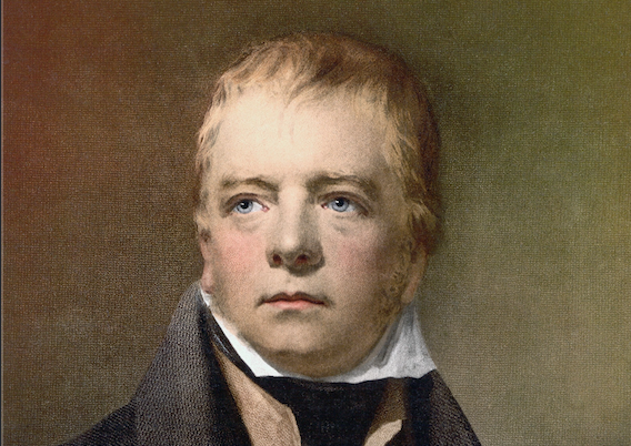 Novelist Sir Walter Scott, who lived from 1771 to 1832.