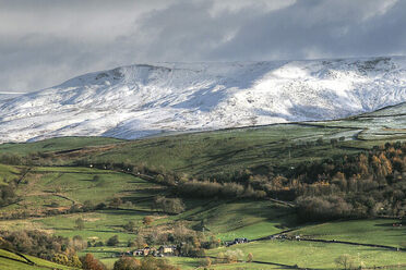 A view of Kinder Scout, the highest hill in England's Peak District.