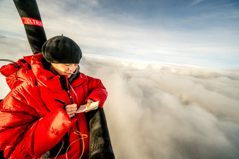 7 Hours in the Air With Some Record-Breaking Swiss Balloonists