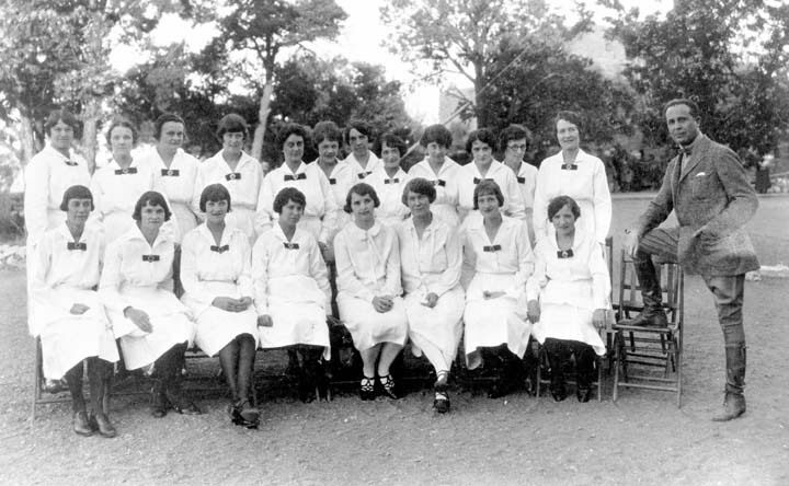 The Harvey Girls of the Historic Grand Canyon El Tovar Hotel. Note their prim uniforms.