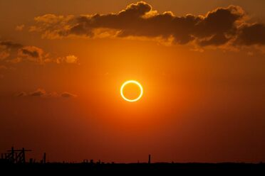 An annular eclipse, in New Mexico in 2012.