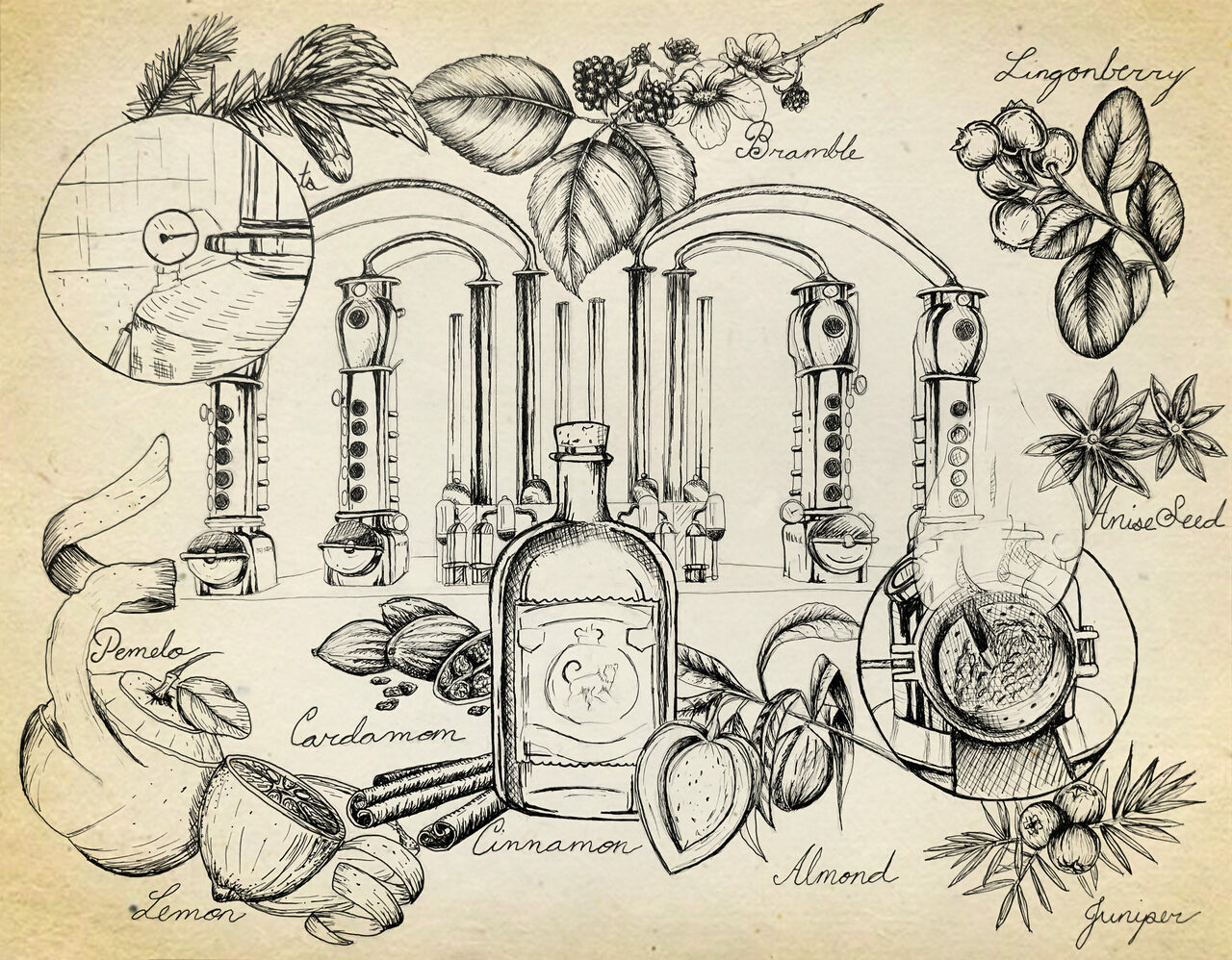 Many factors in the distilling process affect gin's flavor profile.