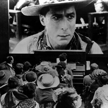 In the early 20th century, audiences crammed in to see silent films, like this one starring William S. Hart.