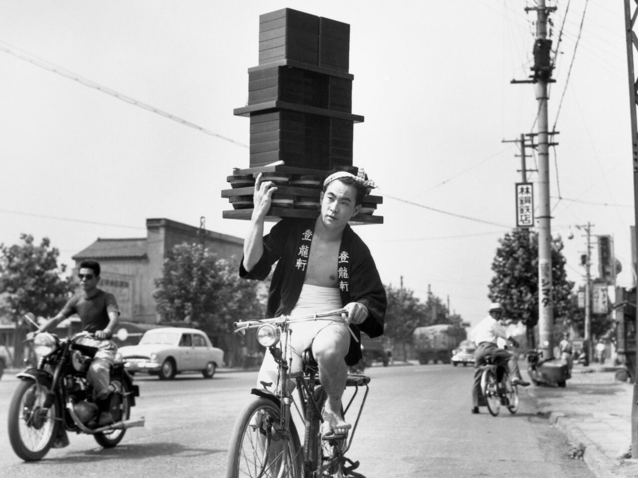 A Tokyo soba noodle delivery in 1956.