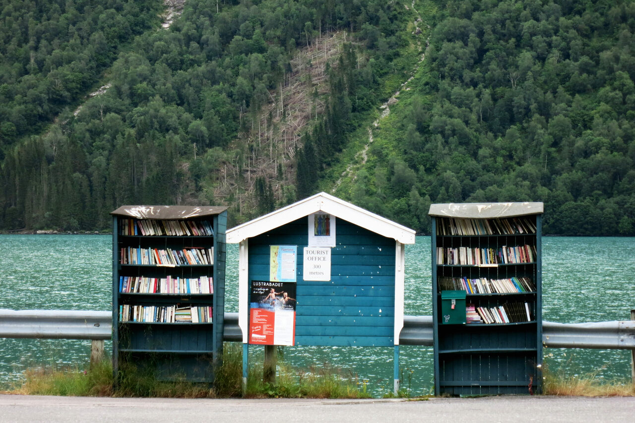 The book town of Fjærland, Norway.