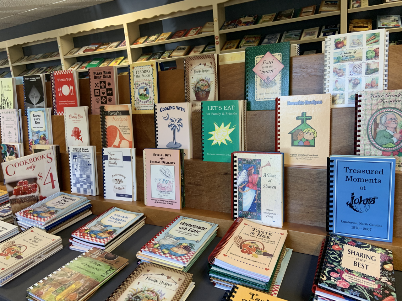 Morris Press is a factory, store, and showcase of the American community cookbook.