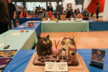 """The Tails of Two Kitties"" was an award-winning entry at UC Berkeley's 2019 Edible Books Festival."