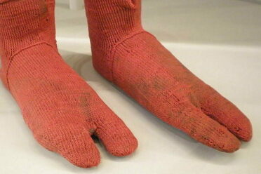 These socks, made in Egypt in the fourth or fifth century and now in the Victoria and Albert Museum, are all the better for your sandals, my dear.