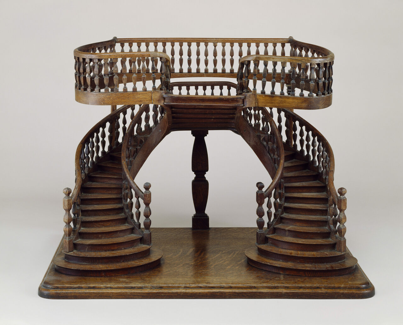 Staircase Model (France), Midu2013late 19th Century; Carved, Joined,