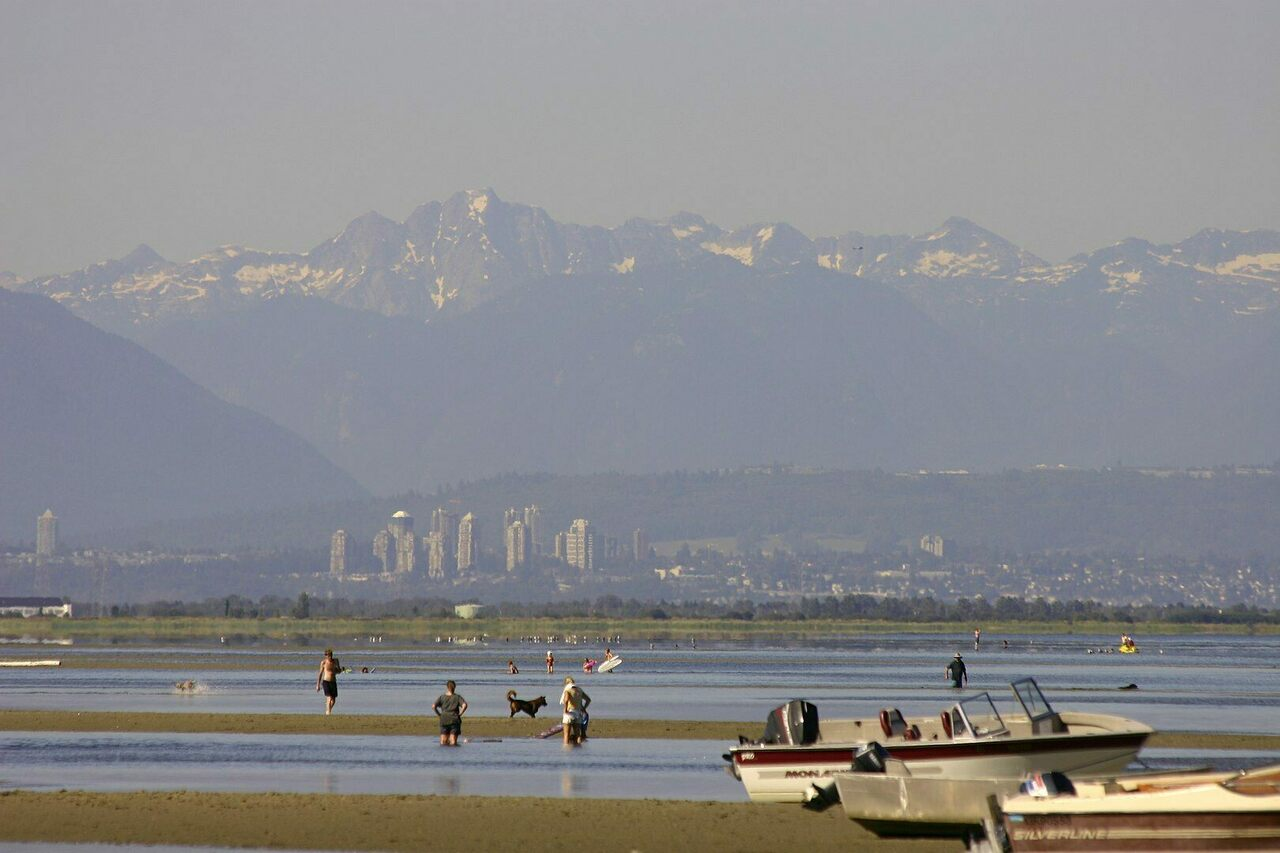 From Maple Beach in Point Roberts, Washington, locals have a clear view of Canada to the north.