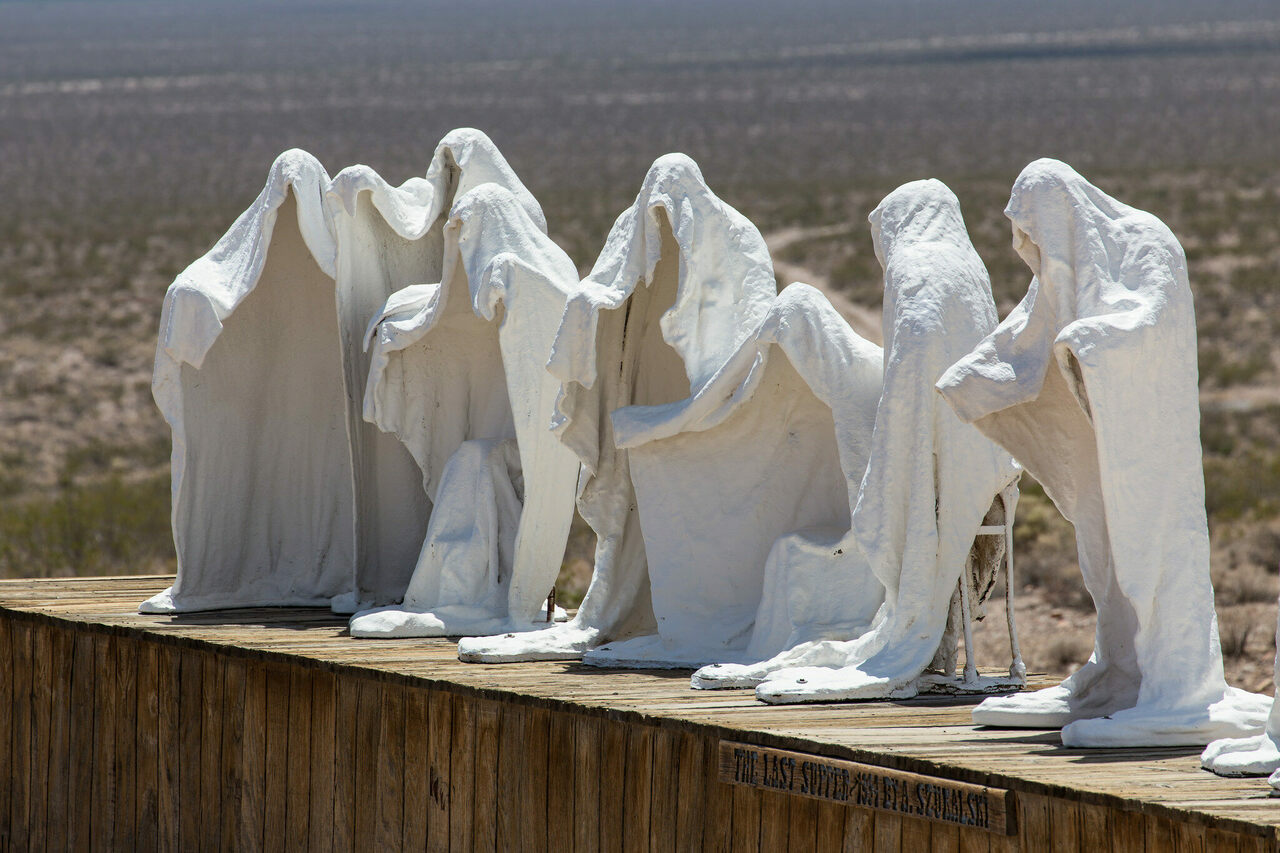 Albert Szukalski's <em>The Last Supper</em> in Beatty, Nevada.