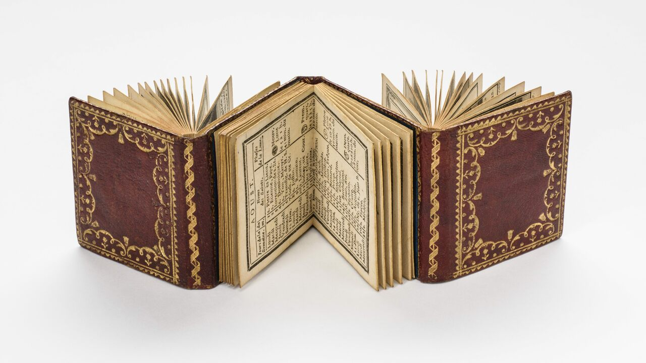 This almanac was produced in Paris in the mid-1780s.