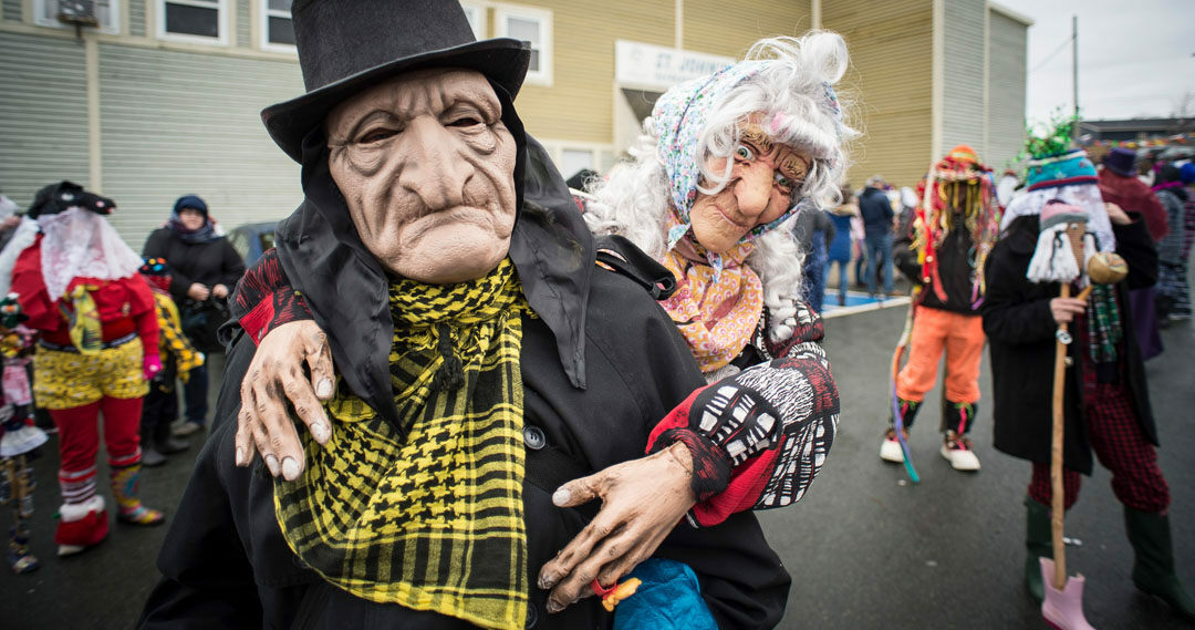 At the Mummers Parade, no one knows who you are.