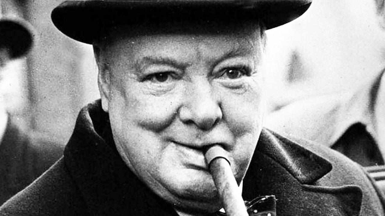 Churchill loved cigars.