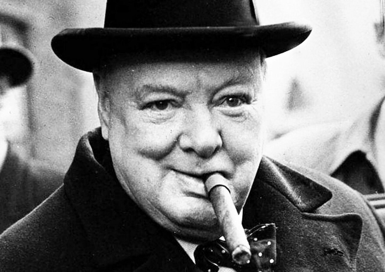 Churchill loved cigars.