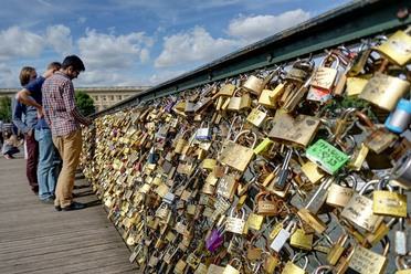 The love locks in their heyday.