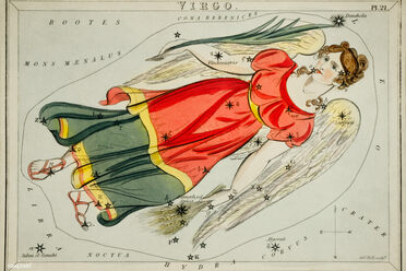Astronomical chart illustration of the Virgo.