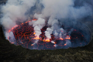 The lava lake at Nyiragongo.