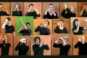 "The word ""astronomy"" in 22 different sign languages."