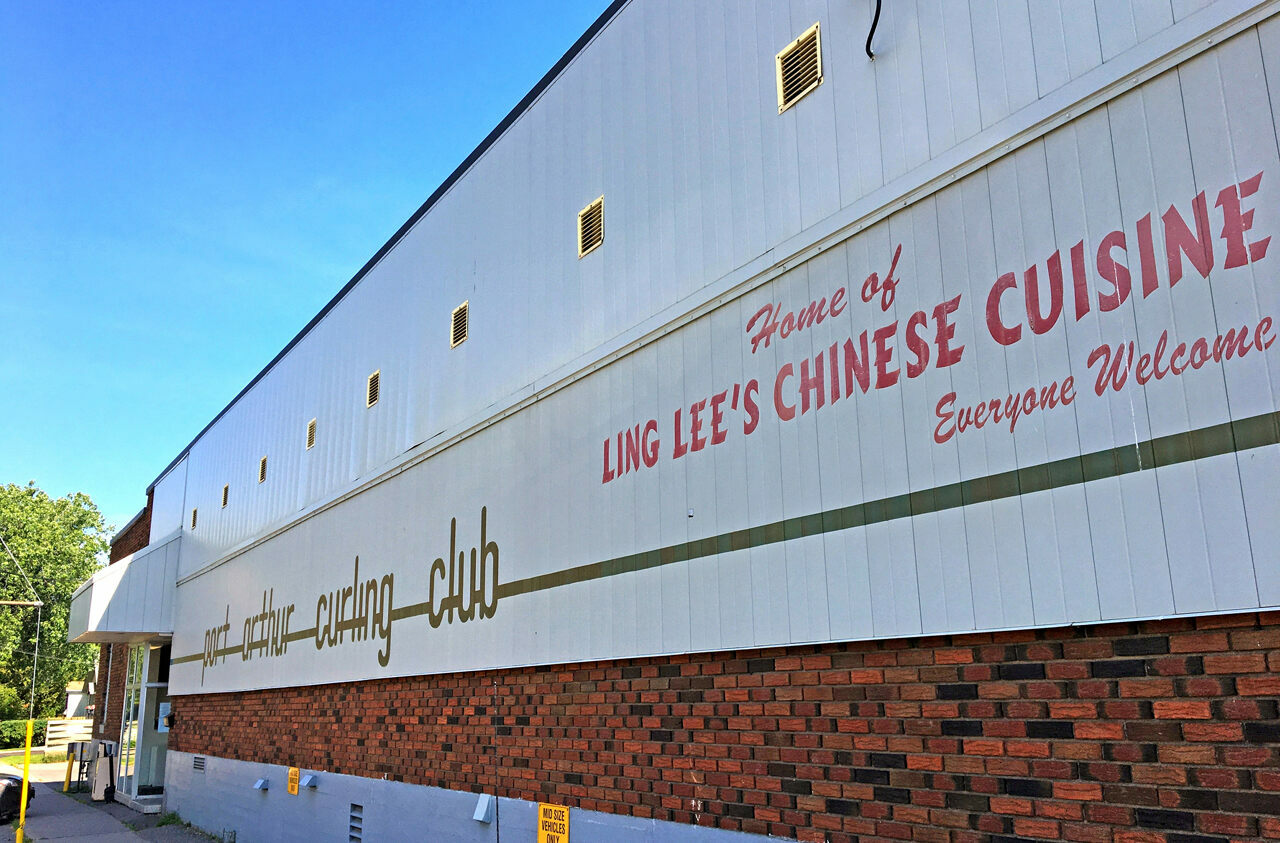 Every curling club in Thunder Bay includes a Chinese restaurant.