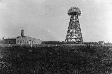 Tesla's wireless experimental station, Shoreham, Long Island, August 22, 1907.