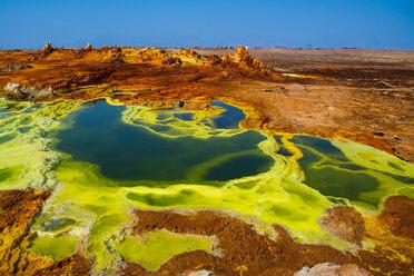 Dallol's colorful volcanic landscape.