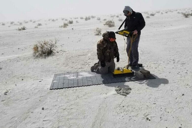 How Radar Detected Prehistoric Footprints Beneath White Sands National Monument