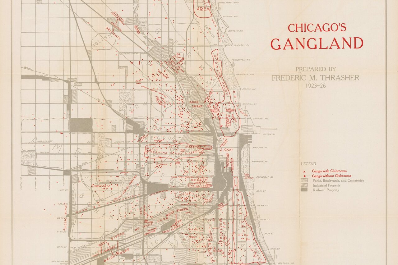 A  Map Reveals The HideOuts Of Chicagos Most Notorious - Los angeles map gangs