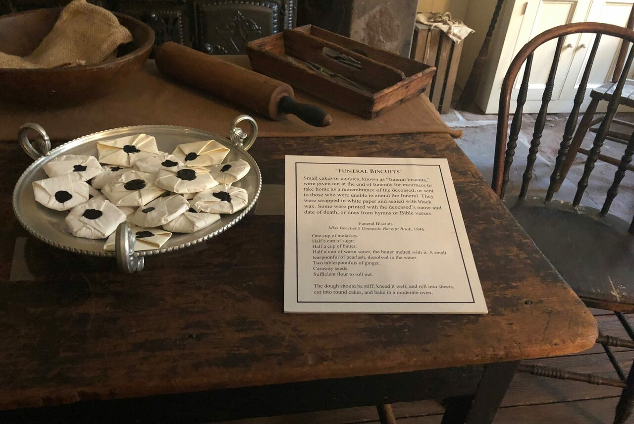 Around Halloween, visitors to the Merchant's House Museum can pick up a funeral biscuit to take home.