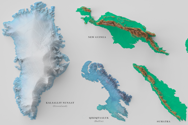 It S Not Easy To Map The 100 Largest Islands In The World
