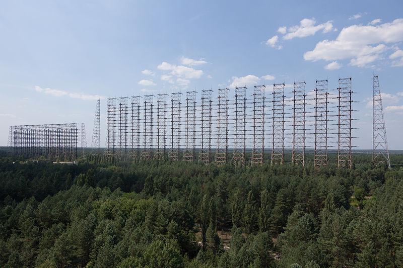 Radar antennas at Chernobyl.