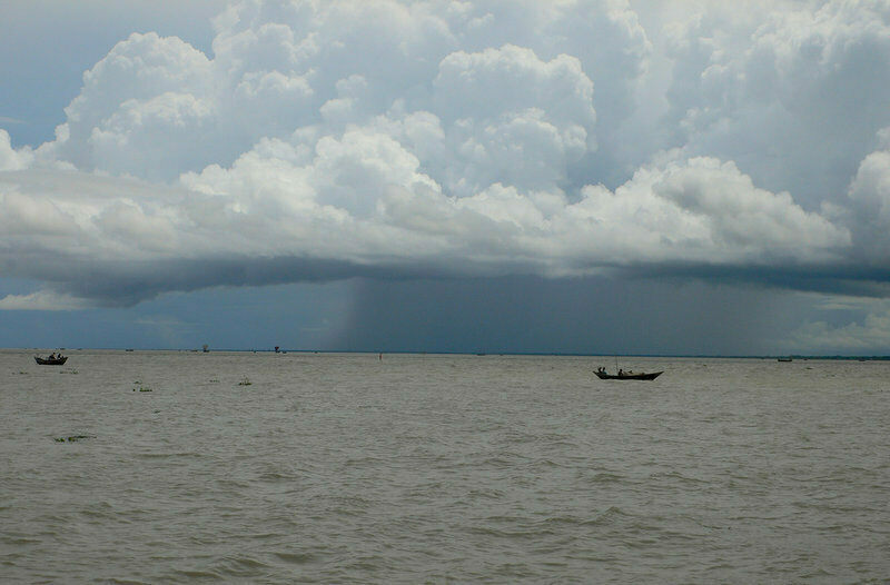 A monsoonal storm brews over the Bay of Bengal.