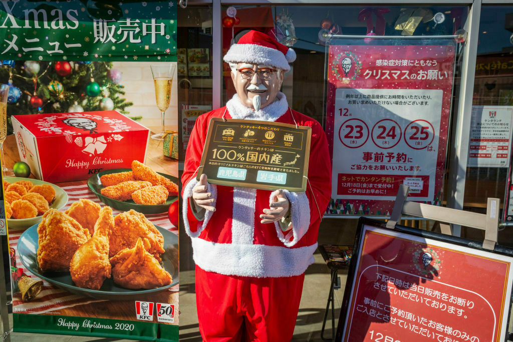 Colonel Sanders has never been more festive.